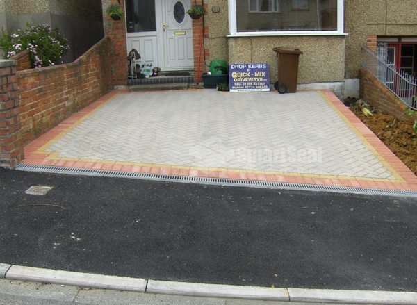 New driveway and dropped kerb